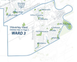 Pembina Trails School Divison Ward 3 Map