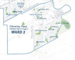 Pembina Trails School Divison Ward 3 Map